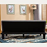 Futon Sofa Bed Furniture GRAY Sleeper Lounger Convertible Low Seat Microfiber