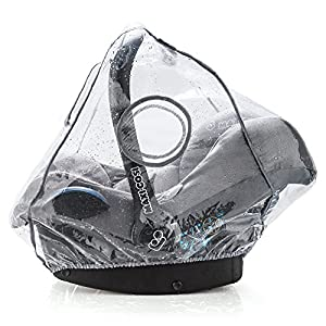 Habillage pluie confort universel pour tous types de sièges-autos bébé (Bébé Confort, Cybex, Recaro) -Bonne circulation de l'air, fenêtre de contact, montage facile, ouverture de transport, sans PVC 2