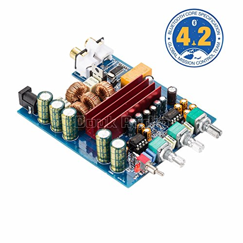 Nobsound 200W Bluetooth 4.2 TPA3116D2 2.0 Channel Digital Power Amp HiFi Stereo Amplifier Board Home Speaker Car Audio Treble Bass Tone Control (DP2)