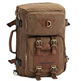 KAUKKO Men's Canvas Army Style Shoulder Travel Tactical...