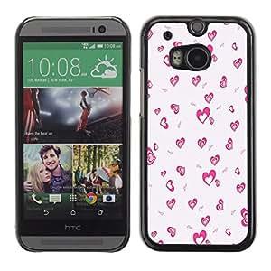 - Pinky Bow - - Monedero pared Design Premium cuero del tir¨®n magn¨¦tico delgado del caso de la cubierta pata de ca FOR HTC M8 One 2 Funny House
