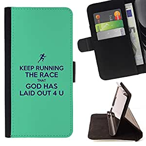 Momo Phone Case / Flip Funda de Cuero Case Cover - BIBLIA Keep Running The Race; - Sony Xperia M5