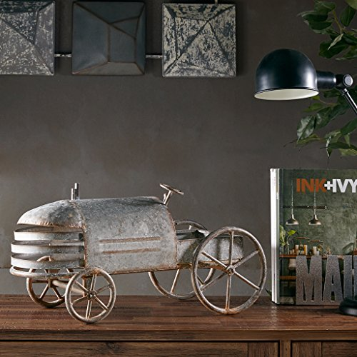 Vintage Car - Rustic Tin Living room decor, table decorations grey