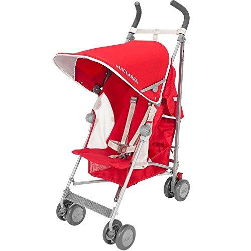 Maclaren Globetrotter Stroller, Cardinal Red/White