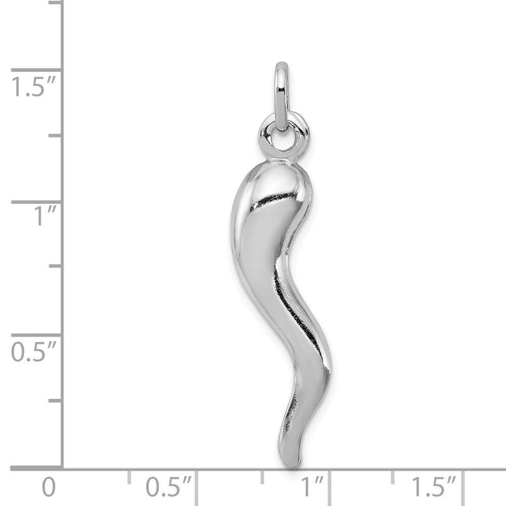 Sterling Silver Italian Horn Pendant