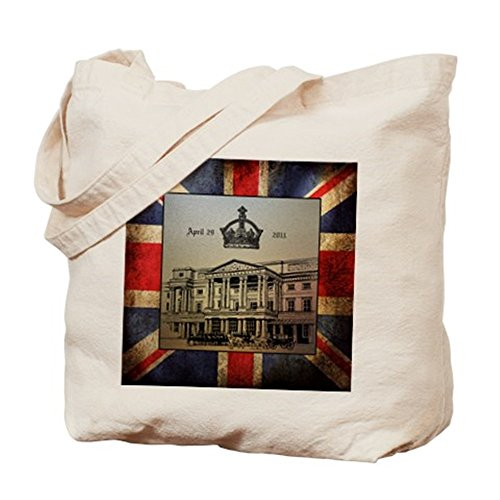 Cafepress – William & amp; Kate – The Royal We – Borsa di tela naturale, tessuto in iuta