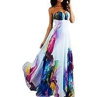 Mujer Vestidos Fiesta Largos sin Manga Gasa para Ceremonia Coctel Partido Vestido Elegantes de Fiesta Mujeres Impresión Chiffon Elegante Tanque Maxi Vintage Vestido de Noche Vestido de Playa