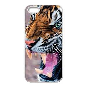 LaiMc Personalized Durable Case Cover for iPhone 5,5S with Brand New Design Tiger