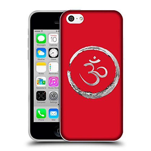 GoGoMobile Coque de Protection TPU Silicone Case pour // Q09170624 Bouddha 35 Cadmium Rouge // Apple iPhone 5C
