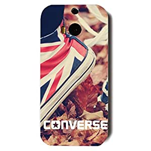 Unique Style 3D Hard plastic Converse All Star Chuck Taylor Phone Case Cover for Htc One M8 Black Hard Case_Fashion Style