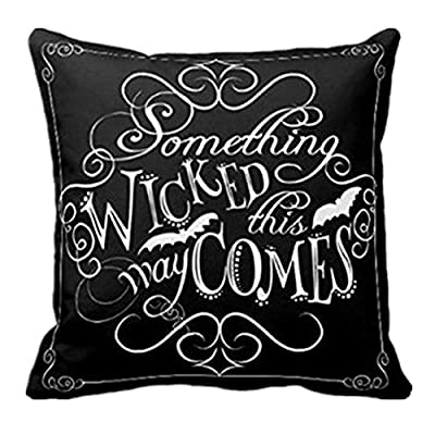 Happy Halloween Pillow Case Covers 18 x 18 Inch Cotton Linen Sofa Home Decor Cushion Covers