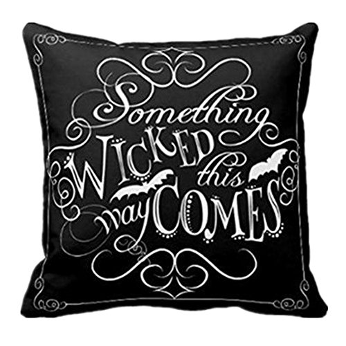 Rambling New Creative Halloween Throw Pillow Cover Decorative Pillowcase 18x18Inch - Wicked Chalkboard]()