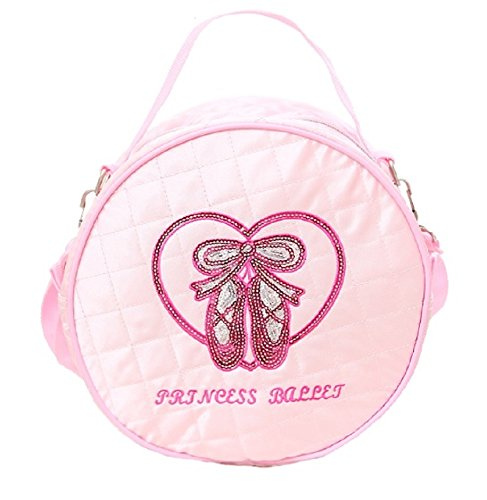 Quilted Glossy Dance Ballet Round Bag for Little Girls - Light (Hip Hop Dance Costumes For Competition For Boys)