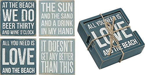 Primitives Kathy Sign Coasters Beach product image