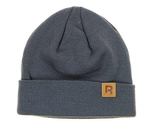 Cap Embroidered Reebok (Reebok Adult Cuffed Knit Hat, Color Options (Grey))