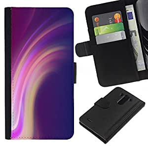 All Phone Most Case / Oferta Especial Cáscara Funda de cuero Monedero Cubierta de proteccion Caso / Wallet Case for LG G3 // Lines Purple Pink Yellow
