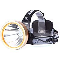 LED Rechargeable Headlamp, 9000mAh Spotlight Headlight Waterproof Head Flashlight Coon Hunting Lights Fishing Lamp…