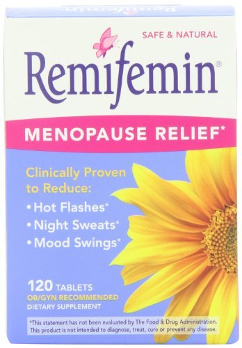 Remifemin Menopause Herbal Supplement, Estrogen Free, 120 Tablets (Pack of 3)