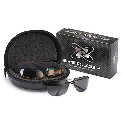 Eyeology Interchangeable Lens Multifunction Aviator Sunglasses System