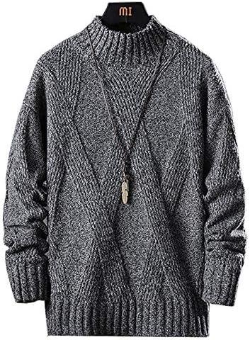 セーター メンズ 長袖 厚手 タートルネック ニットセーター 暖かい 防寒 カジュアル セーター 春秋冬