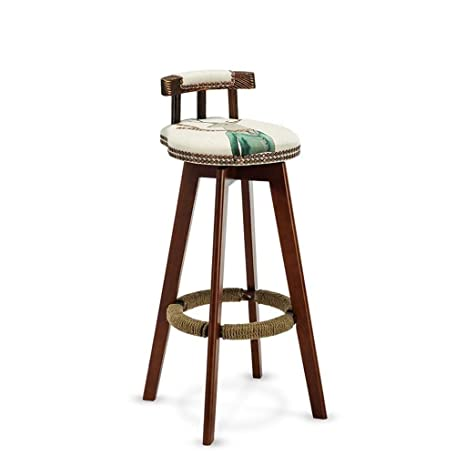 Astonishing Amazon Com Jjek Bar Stool Solid Wood High Bar Stool With Ibusinesslaw Wood Chair Design Ideas Ibusinesslaworg