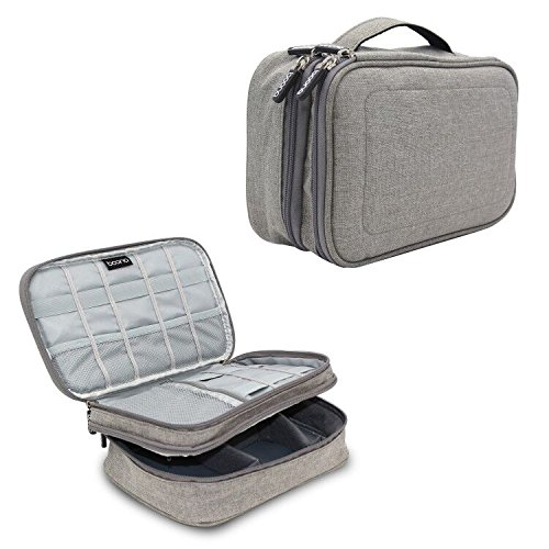 AC Parts Double Layer Electronics Accessories Cable Organizer Storage Bag,Travel Universal Cable Cases for Charging Cable , iPad air, Charger, Kindle, Adapter and - O Brien Surfboards