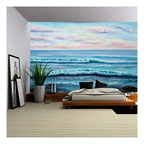 Original Oil Painting Showing Ocean or Sea Shore or Beach