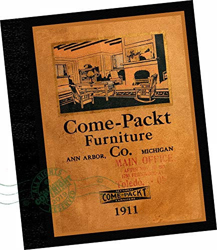 TRADE SAMPLES CATALOGUE: Come-Pact Furniture Company, (Formerly the International Manufacturing Company) Ann Arbor, Mich, Toledo, Ohio : 1911 Come-Pact Furniture Co, Catalog G -- A modern reprint of the original wholesale samples brochure. (Replica of the original 1911 trade samples catalog mission style wood furniture, which are now antiques.) (Furniture In Arbor Stores Ann)