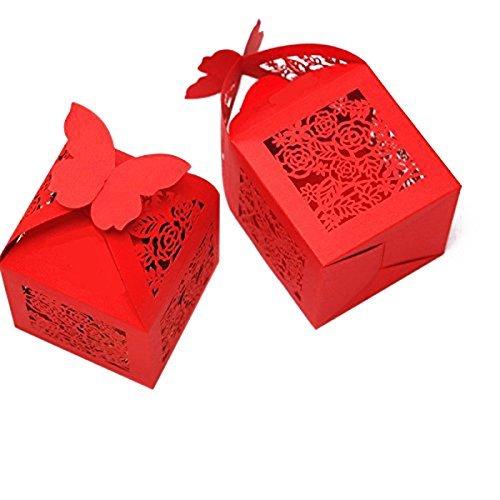 Amazon Kazipa 50pcs Laser Cut Wedding Gift Boxes 22x22x2