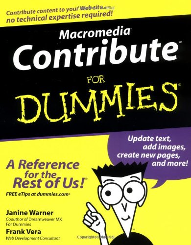 Macromedia Contribute For Dummies-cover