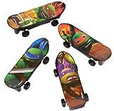 ninja turtles with skateboard - Mini Teenage Mutant Ninja Turtles Skateboard Party Favors, 4ct
