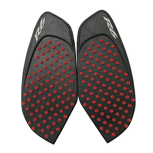 Tank Gas Pad Knee Fuel Side Grips Protector For Yamaha YZF R6 2008-2015 (Red) (R6 Tank Protectors)