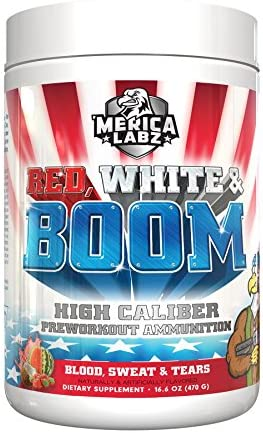 Merica Labz Red, White Boom 25 Servings – Blood, Sweat Tears