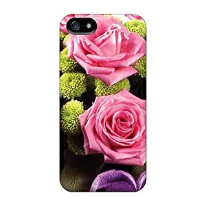 Bernardrmop Design High Quality Pink Roses Arrangement Cover Case With Excellent Style For Iphone 5/5s