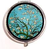 Van Gogh Pill Box Almond Blossoms Pill Case Medicine Organizer