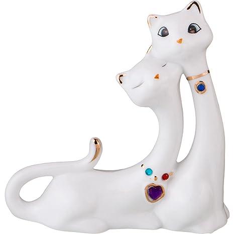 Amazon.com: lefard Feng Shui dos blanco gato – hecho a mano ...