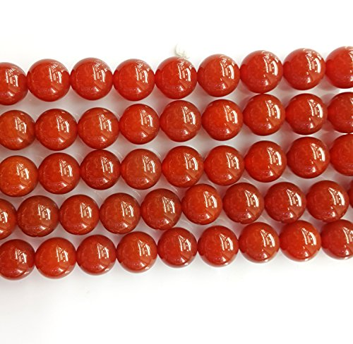 Heated 16in Strand (Bead, carnelian (dyed / heated), 8mm round, C grade, Mohs hardness 6-1/2 to 7. Sold per 16-inch)