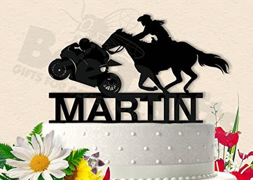 Amazon.com: Motorcycle and Horse Couple Wedding Cake