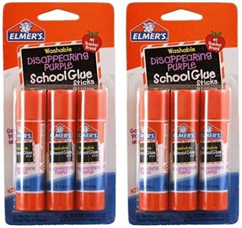 Glue Elmers Stick (Elmer's Disappearing Purple School Glue Sticks, 0.21 oz Each, 2-3 Packs (E520))