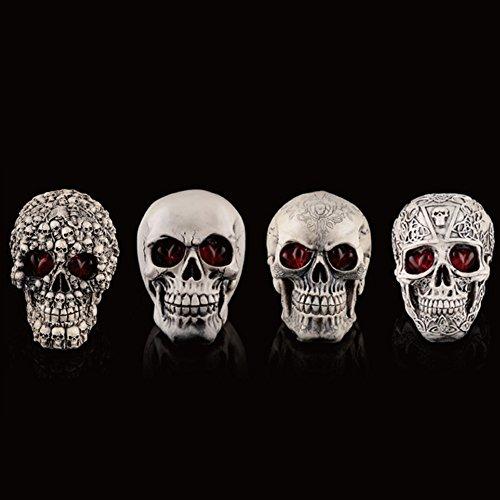 [Halloween Horrible Skull, Gillberry Halloween Decorations Resin Wacky Funny Novelty Skull Horrible Toys (D)] (Newspaper Flash Costume)