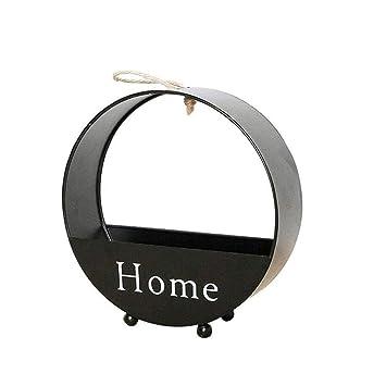 Amazon Com Lookgid Round Wall Hanging Storage Basket Flower Basket