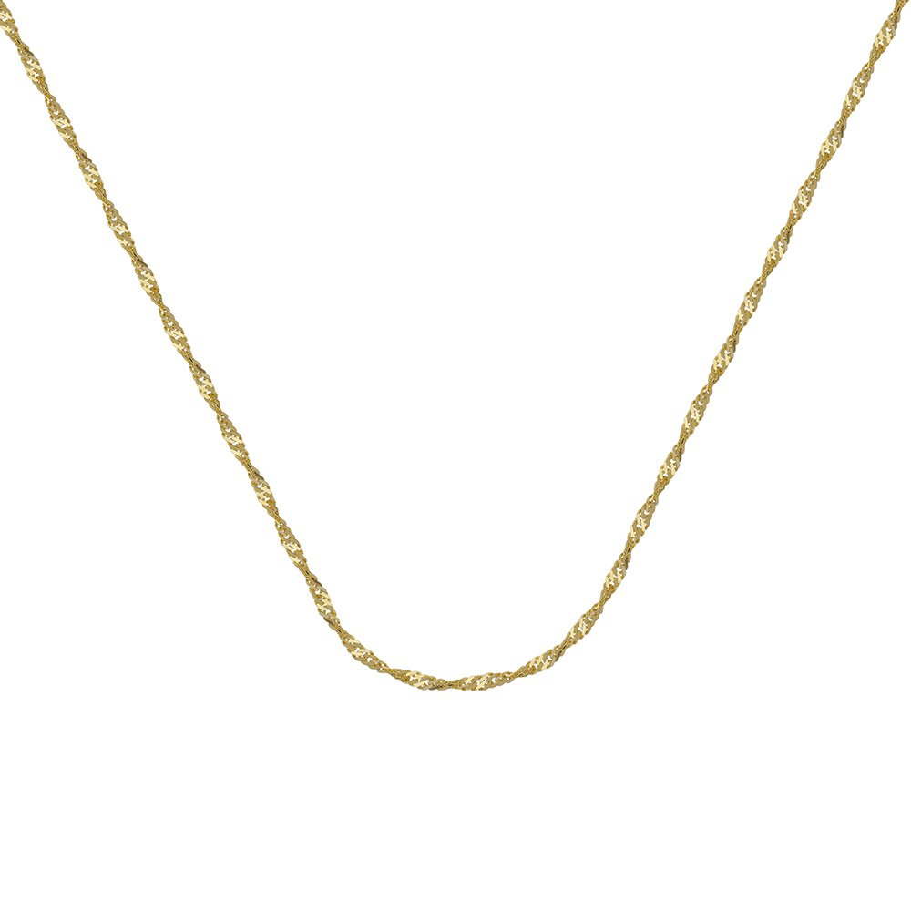 10kt Yellow Gold Singapore Chain Necklace 1.15mm