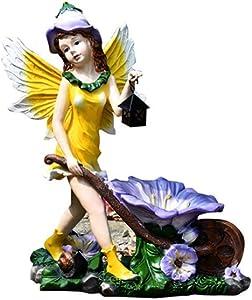 LIUSHI Decorative Sculpture Flower Pot, Garden Angel Decoration Angel Sculpture Planter Angel Statue Garden Decoration Garden Crafts 37 20 45Cm