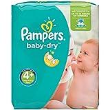 Pampers Baby Dry  - Pañales para bebés, Talla 4+ (9-18kg), 152 unidades