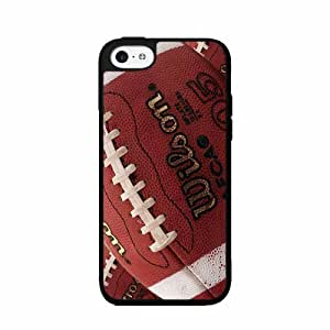 Detailed Football - Plastic Phone Case Back Cover (iPhone 5/5s)