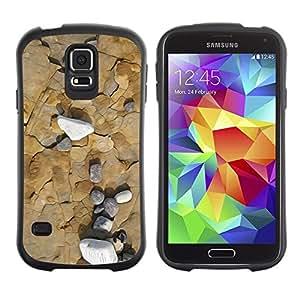 "Hypernova Slim Fit Dual Barniz Protector Caso Case Funda Para Samsung Galaxy S5 [Sea Beach Interesante Geología Contour""]"