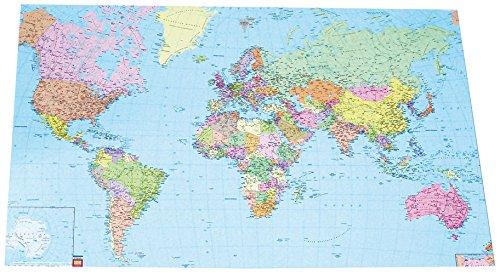 Donau Schreibtischunterlage Weltkarte Papier Laminiert 580 X
