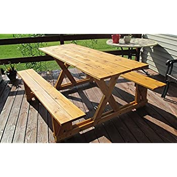 Awesome Infinite Cedar EZ Access Cedar Picnic Table