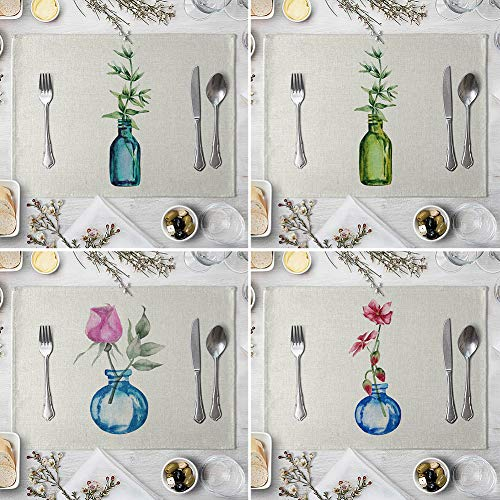memorytime Flower Bottle Heat Insulated Pad Kitchen Dining Table Tableware Mat Placemat Kitchen Dining Supplies - 5# by memorytime (Image #3)