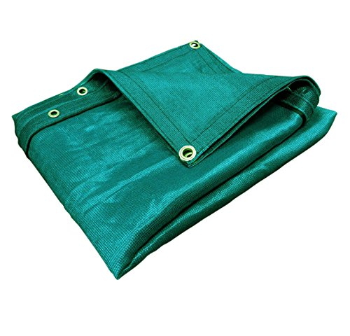 (Green) Super Heavy Duty Mesh Tarp Net Sail Sun Shade Awning and Fence Screen Patio and Canopy Cover (6' x - Super Heavy Canopy Duty